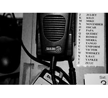 Sailor Marine Radio Photographic Print