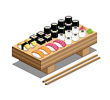 Isometric Sushi Photographic Print