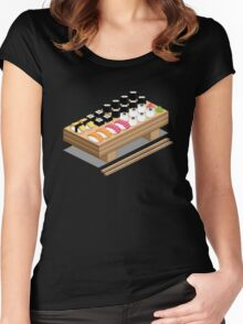 Isometric Sushi Women's Fitted Scoop T-Shirt