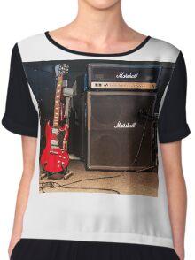 Gibson SG & Marshall Amp Chiffon Top