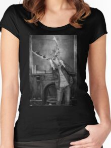 Surreal deer Women's Fitted Scoop T-Shirt