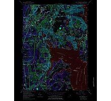 USGS TOPO Map Rhode Island RI East Greenwich 353284 1957 24000 Inverted Photographic Print
