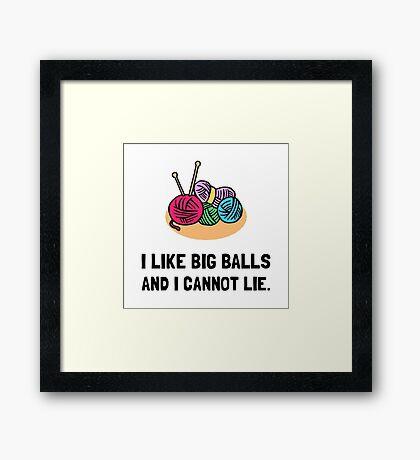 Big Knitting Balls Framed Print