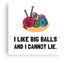 Big Knitting Balls Canvas Print