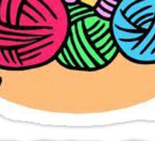 Big Knitting Balls Sticker