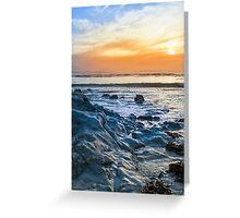 grey rocks at rocky beach Greeting Card