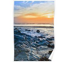 grey rocks at rocky beach Poster