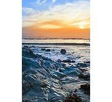 grey rocks at rocky beach Photographic Print