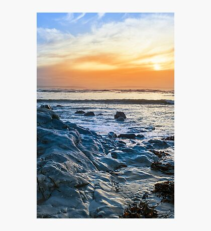 grey rocks at rocky beach Photographic Print