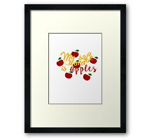 My safe word is apples Framed Print
