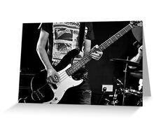 Bass Guitar Greeting Card