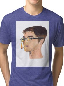 Portrait of a Doodling Serf Tri-blend T-Shirt