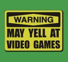 Warning Yell At Video Games Kids Tee