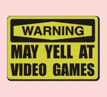Warning Yell At Video Games One Piece - Short Sleeve