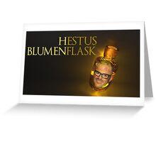 Hestus Blumenflask Greeting Card