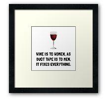 Wine Women Framed Print