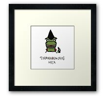 Tyrannosaurus Hex - Front view Framed Print