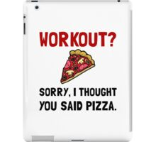 Work Out Pizza iPad Case/Skin