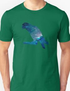 Galaxy Blue Parrot Unisex T-Shirt