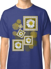 White Daisy on Blue Classic T-Shirt