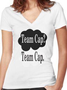 Team Cap? Team Cap Women's Fitted V-Neck T-Shirt