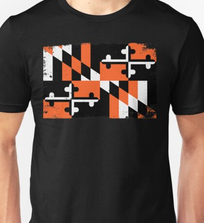 Baltimore Orioles Orange Maryland Print Unisex T-Shirt
