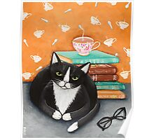 Tea, Books, and Cats Poster