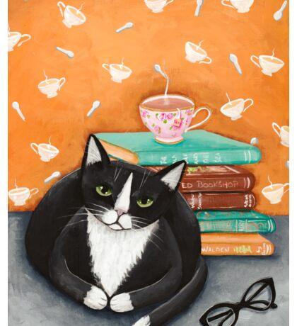 Tea, Books, and Cats Sticker