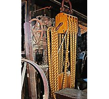 Old Rope Pulleys Photographic Print