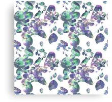 Amethyst and Emerald Jewel Pattern Canvas Print