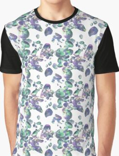 Amethyst and Emerald Jewel Pattern Graphic T-Shirt