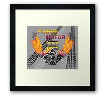 Power motors V8  Framed Print