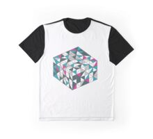 Teal Cube Graphic T-Shirt
