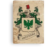 Smithers Coat of Arms (England) Canvas Print