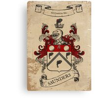 Saunders Coat of Arms (Ireland) Canvas Print