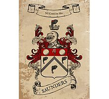 Saunders Coat of Arms (Ireland) Photographic Print