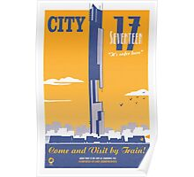 City 17 Travel Poster (orange) Poster