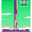 City 17 Travel Poster (green) by bubblemunki