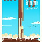 City 17 Travel Poster (blue) by bubblemunki
