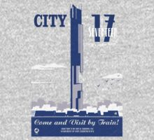 City 17 Travel Poster  One Piece - Long Sleeve