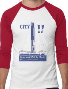 City 17 Travel Poster  Men's Baseball ¾ T-Shirt