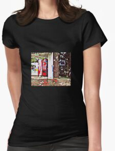 COKE MACHINE IN THE SNOW Womens Fitted T-Shirt