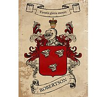 Robertson Coat of Arms (Scotland) Photographic Print