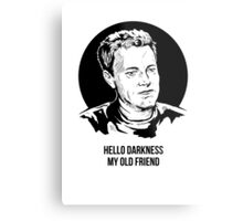 Hello Darkness My Old Friend Metal Print