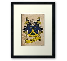 Rice Coat of Arms (Germany) Framed Print