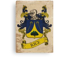Rice Coat of Arms (Germany) Canvas Print