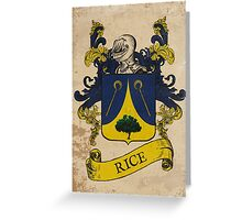 Rice Coat of Arms (Germany) Greeting Card