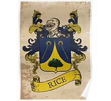 Rice Coat of Arms (Germany) Poster