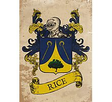 Rice Coat of Arms (Germany) Photographic Print