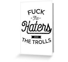 The Trolls - Black Greeting Card